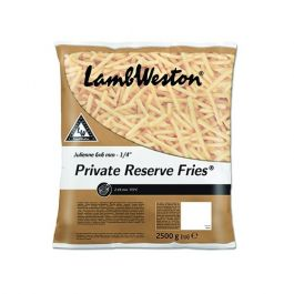 F62 6X6 PRIVATE RESERVE FRIES CHIPS  4X2.5KG