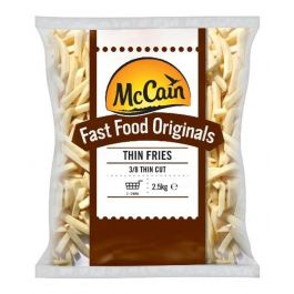 3/8 ORIGINAL FAST FOOD MCCAIN  FRIES CHIPS  4X2.27KG