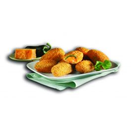 (LEDUC) CHEDDAR CHEESE JALAPENO DIPPERS 6X1KG
