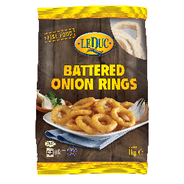 (LEDUC) BATTERED ONION RINGS 6X1KG