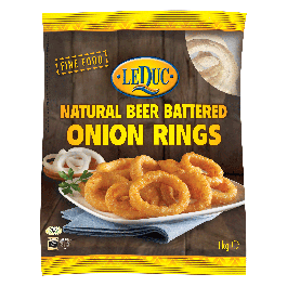 BEER BATTERED NATURAL ONION RINGS 6X1KG