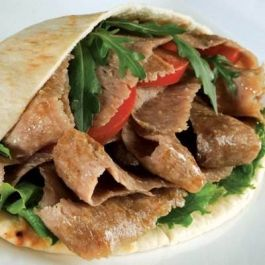 (TUB) COOKED  DONER KEBAB  MEAT  2.27KG