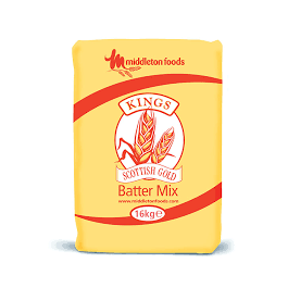 KINGS (RED) NATURAL GOLD BATTER MIX 16KG