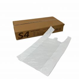 S4 WHITE 17*21 CARRIER BAGS 1000PCS