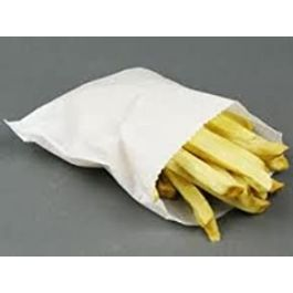 6X4 WHITE PAPER BAGS CHIPS BAGS 1000PCS