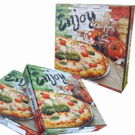 "7""  F/COLOUR  (ITALIAN WALL) PIZZA BOXES 100PCS"